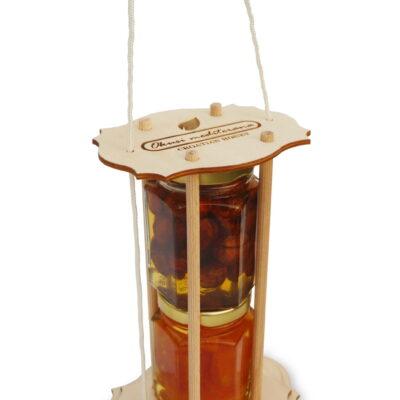 Souvenirs im Holzgestell 2×140 g