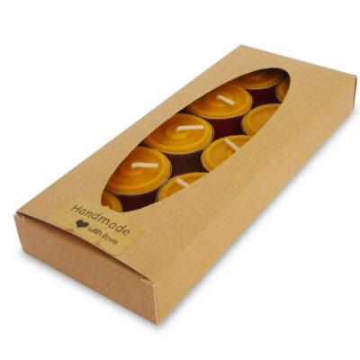 Bienenwachskerzen Teelichter Kraft box 10/1