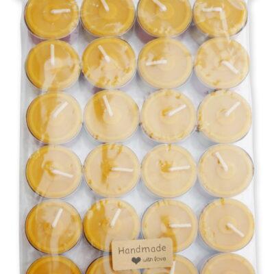 Bienenwachskerzen Teelichter 24 Stücke