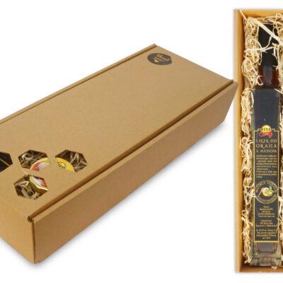 Geschenkpaket DUO Kirschlikör + 4 Honig